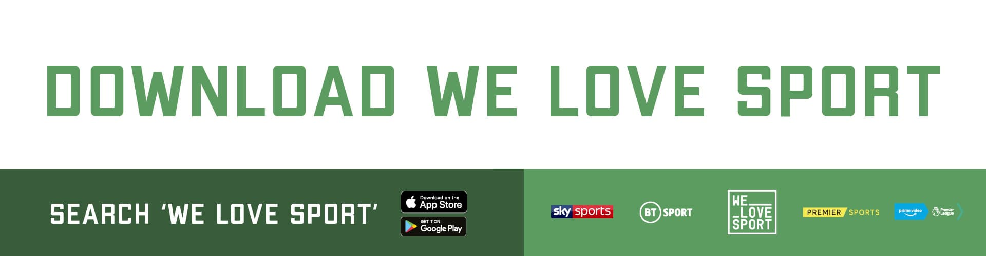 We Love Sport - in partnership with Great UK Pubs