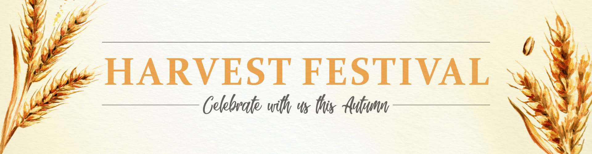 Harvest Festival - Celebrate with us this Autumn