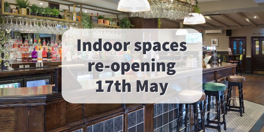 English indoor pubs re-opening May 17th