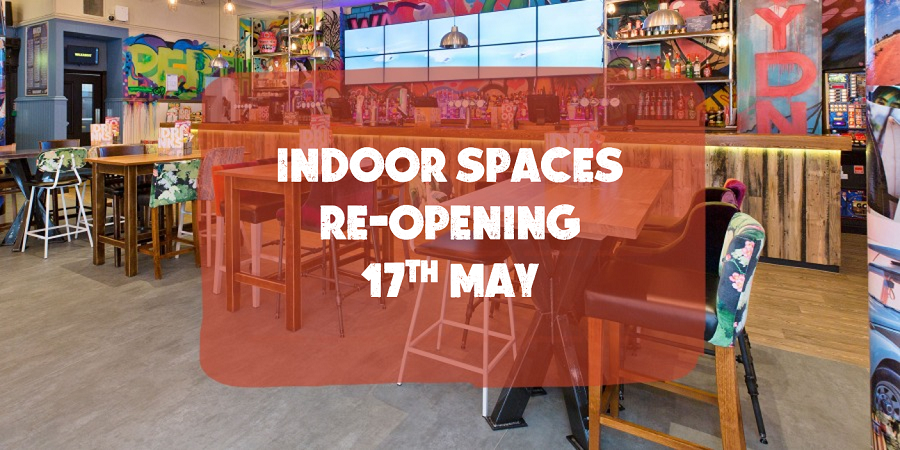 Indoor Spaces Opening 17th May