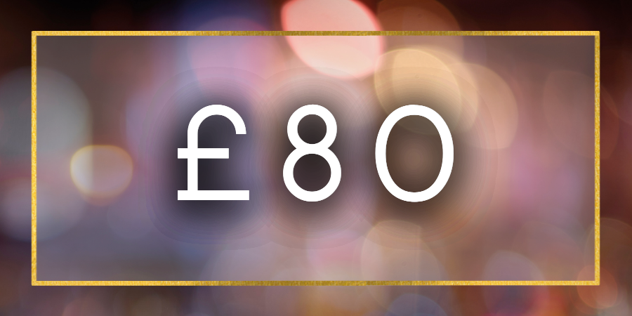 £80 Gift Card Value