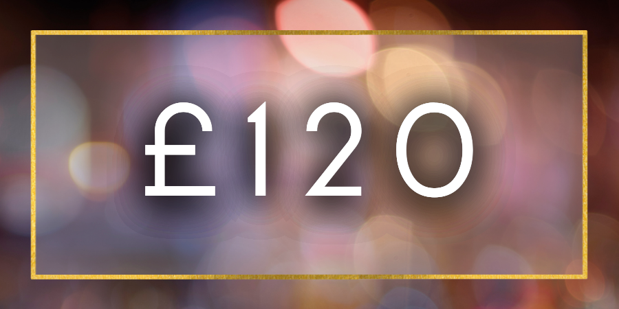 £120 Gift Card Value
