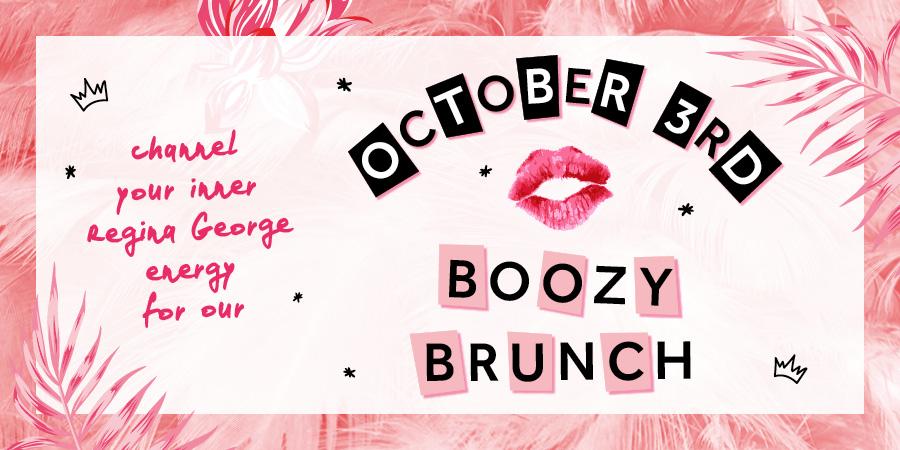 October 3rd Boozy Brunch