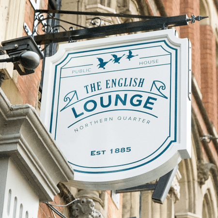 The English Lounge sign
