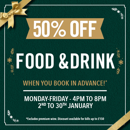 50% off food and drink