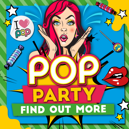 Pop Party Every Saturday at Popworld