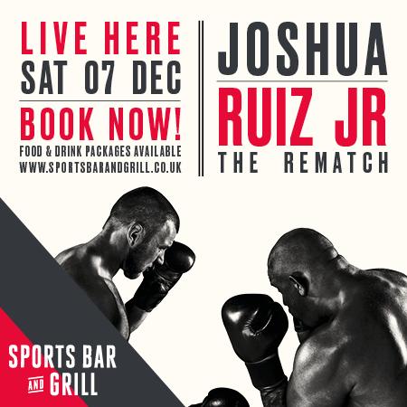 Anthony Joshua boxing match