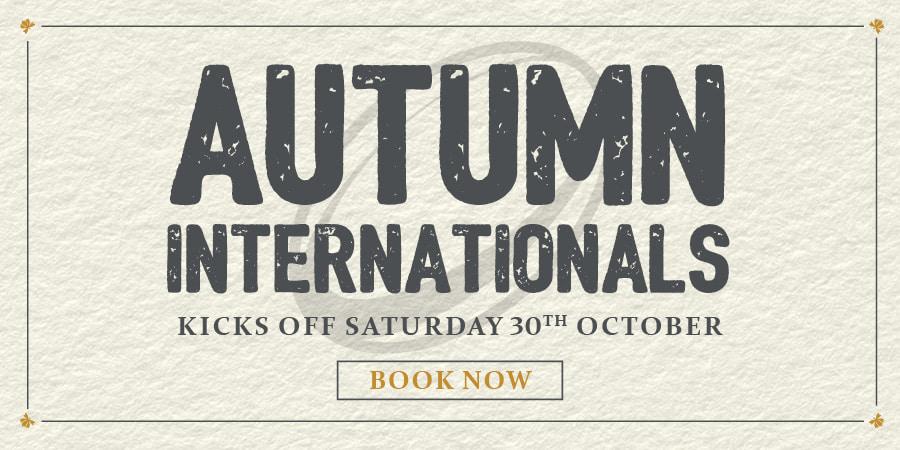 Watch the Autumn Internationals here - Book Now