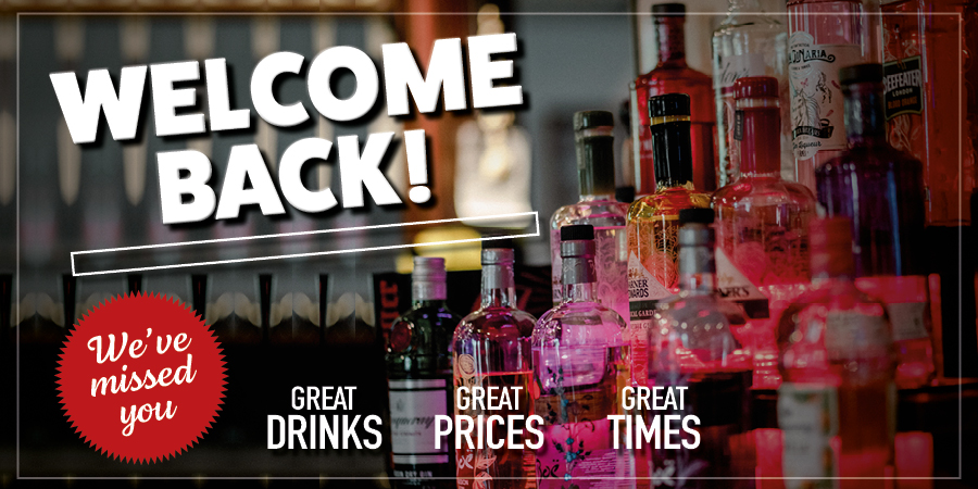 Welcome back our pub is open