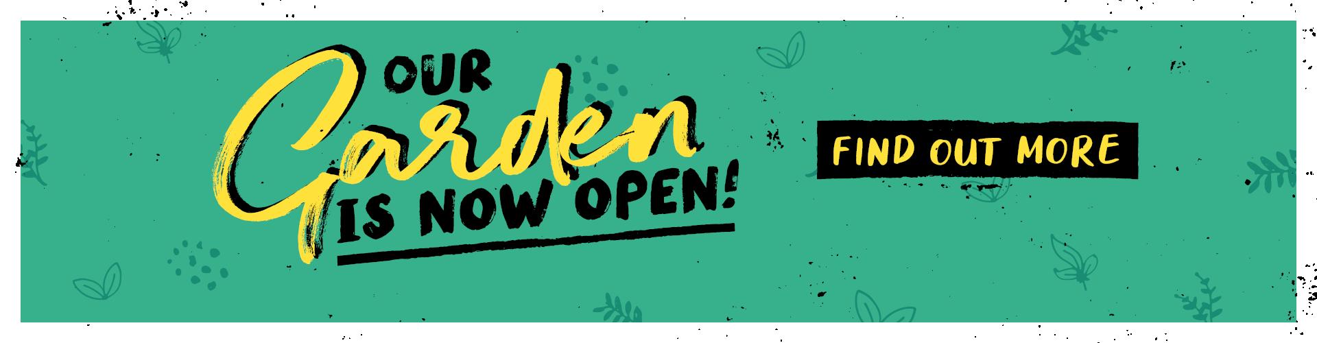 Our beer garden is now open!