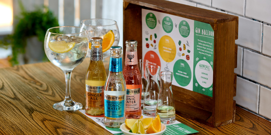 Selection of Gins and Mixers
