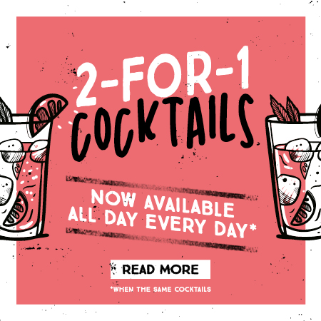2-for-1 cocktails
