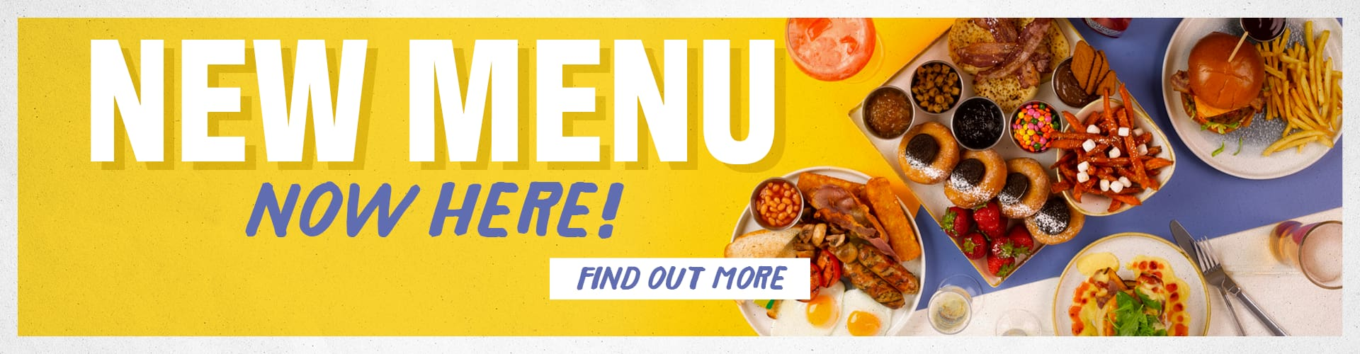 New menu just launched