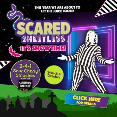 Retro Newcastle Halloween Scared Sheetless