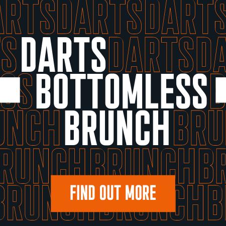 Darts bottomless brunch at Huddl. Find out more