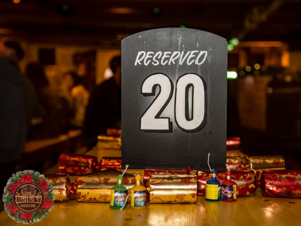 Christmas Reserved Sign