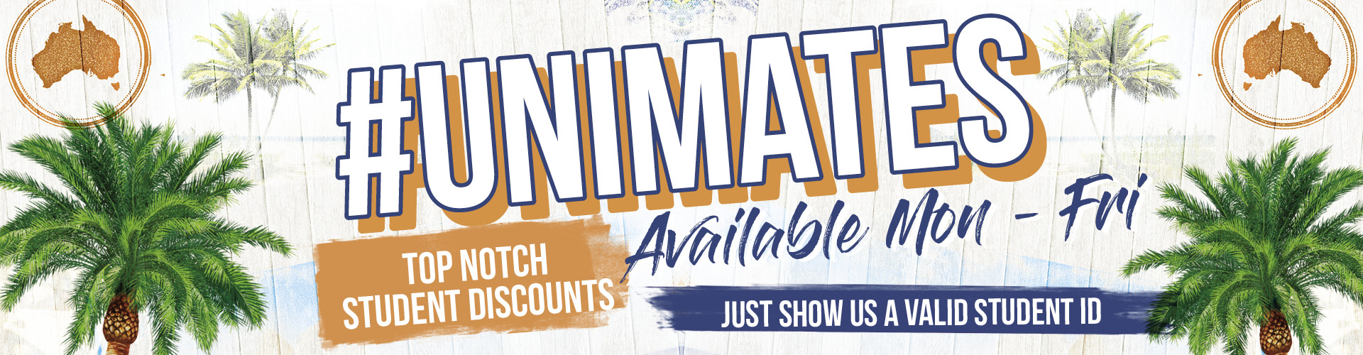 Unimates - Student Discounts at Walkabout