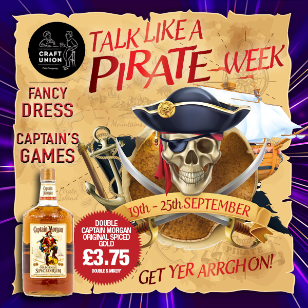 Talk Like a Pirate Captain Morgan Spiced Gold