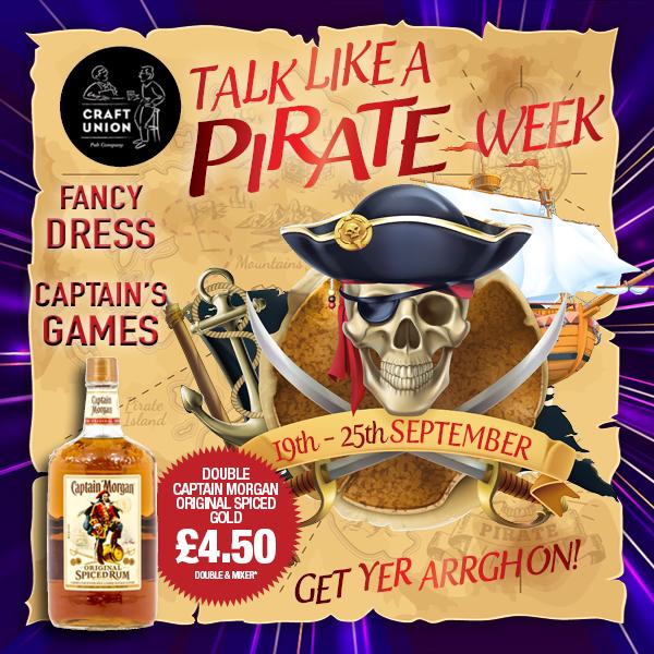 Talk Like a Pirate week Craft Union