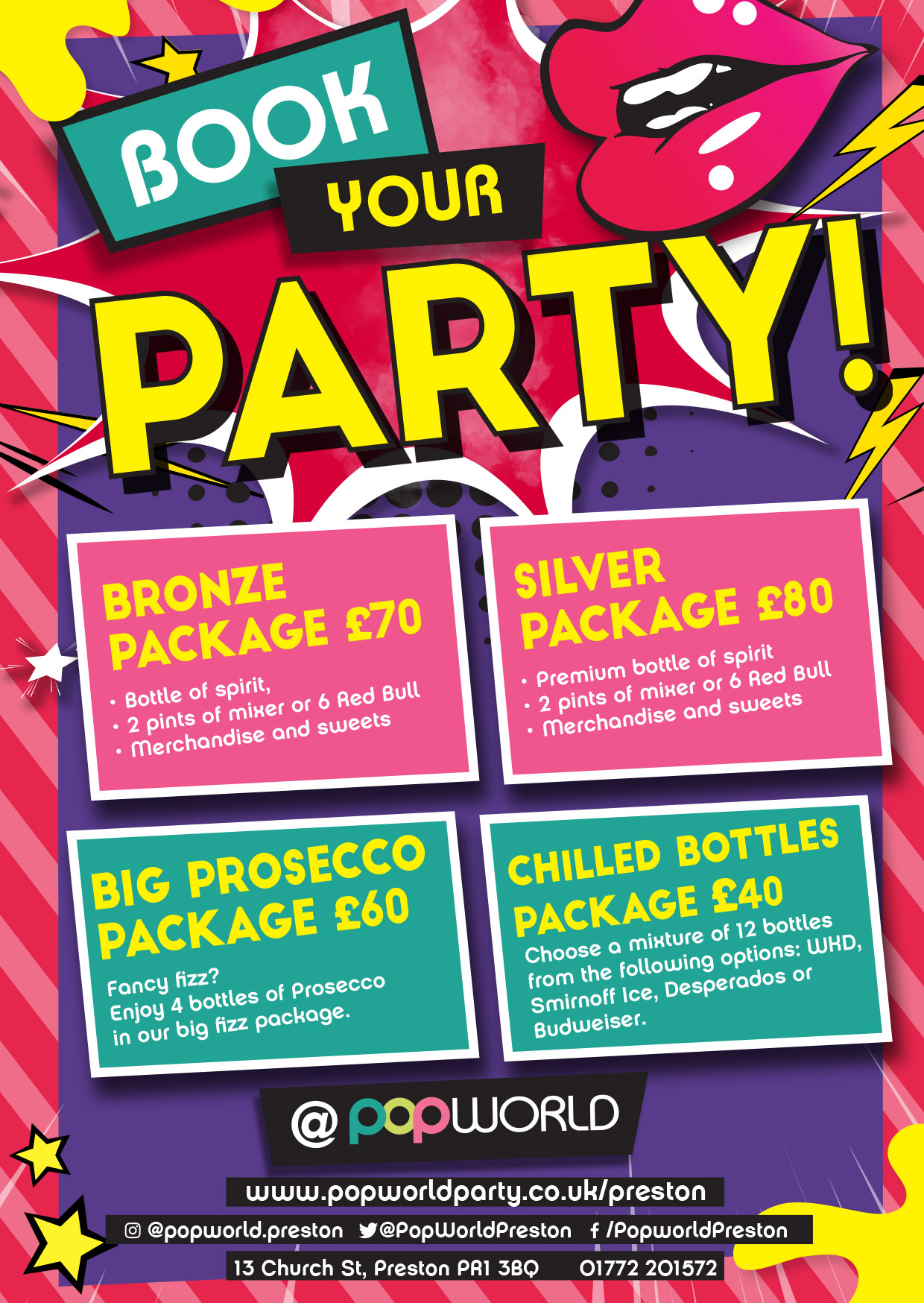 Popworld Preston Party Packages