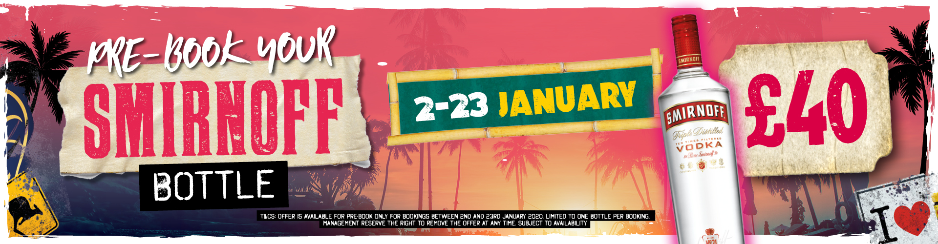 Pre-Book Your Smirnoff Bottle This January!