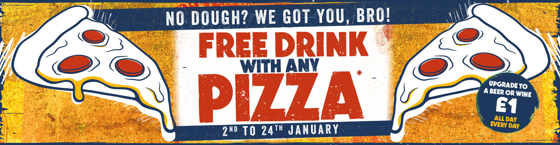 Free Drink With Any Pizza