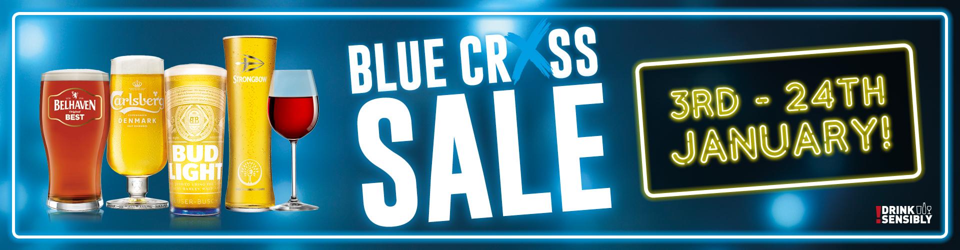 Blue Cross Sale - drinks from £2.49