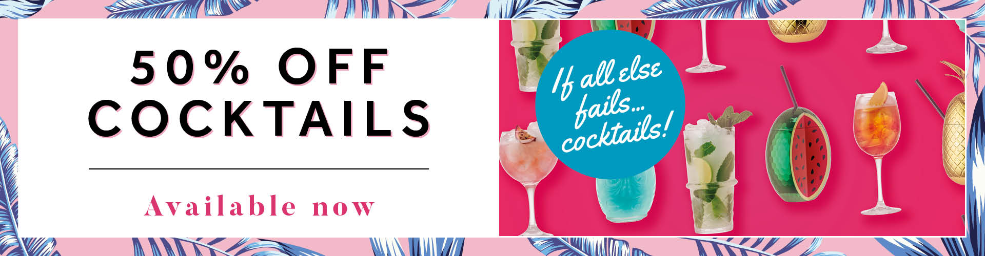 50% Off Cocktails