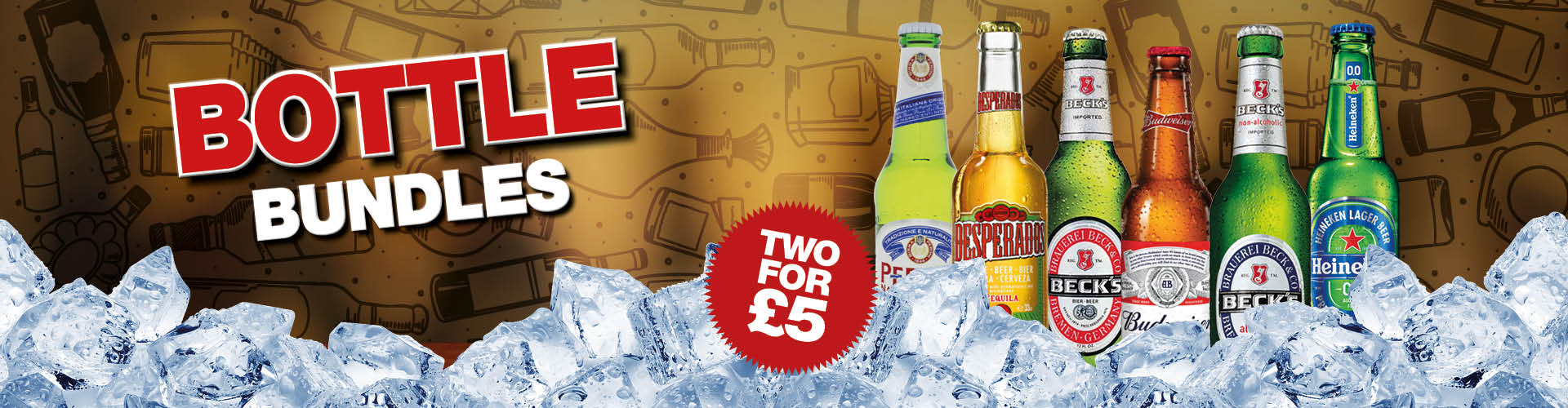Bottled beer drink offers at your local Craft Union Pub